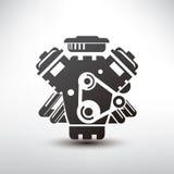Símbolo del motor de coche Fotografía de archivo libre de regalías