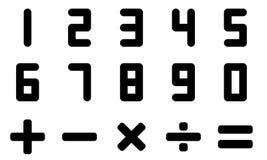 Símbolo del número y de la matemáticas Fotografía de archivo libre de regalías