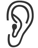 Símbolo del oído Imagen de archivo libre de regalías