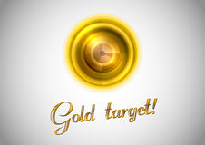 Símbolo del oro Foto de archivo libre de regalías