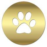 Símbolo del oro Imagen de archivo libre de regalías