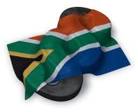 Símbolo del párrafo y bandera de Suráfrica Fotografía de archivo libre de regalías