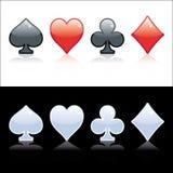 Símbolo del póker Imagen de archivo