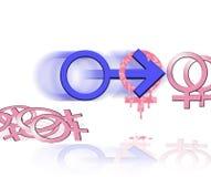Símbolo del partido de sexo Fotos de archivo