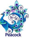 Símbolo del pavo real Imagen de archivo