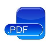 Símbolo del pdf Foto de archivo libre de regalías