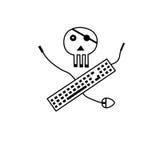 Símbolo del pirata libre illustration