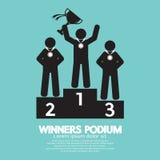 Símbolo del podio de los ganadores Imagen de archivo