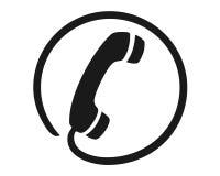 Símbolo del receptor del teléfono Fotos de archivo