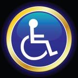 Símbolo del sillón de ruedas Imágenes de archivo libres de regalías
