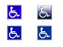 Símbolo del sillón de ruedas Foto de archivo libre de regalías