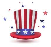 Símbolo del sombrero del tío Sam del día de los presidentes ilustración del vector