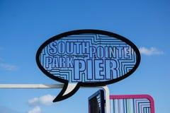 Símbolo del sur del embarcadero del parque del punto fotografía de archivo