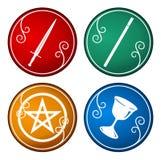 Símbolo del tarot Fotografía de archivo