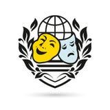 Símbolo del teatro del vector Imágenes de archivo libres de regalías