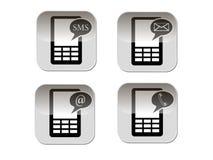 Símbolo del teléfono Fotografía de archivo