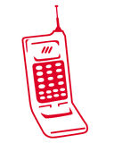Símbolo del teléfono celular Fotos de archivo
