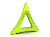 Símbolo del triángulo Fotografía de archivo
