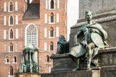 Símbolo del valor en la plaza principal de Kraków Foto de archivo libre de regalías