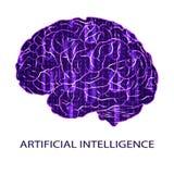 Símbolo del VECTOR de la inteligencia artificial Foto de archivo