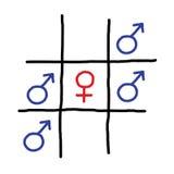 Símbolo del vector de la muestra del juego del sexo ilustración del vector