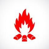 Símbolo del vector del fuego ilustración del vector