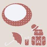 Símbolo del vector del recorrido Imagen de archivo