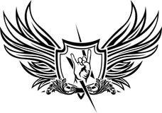 Símbolo del vector del rock-and-roll Foto de archivo