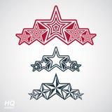 Símbolo del vector eps8union Elemento festivo con las estrellas, deco del diseño Imagen de archivo