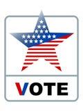 Símbolo del voto Imágenes de archivo libres de regalías