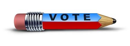 Símbolo del voto representado por un lápiz libre illustration