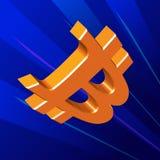 Símbolo del vuelo de Bitcoin Imágenes de archivo libres de regalías