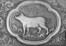 Símbolo del zodiaco de tradicional tailandés Imagen de archivo libre de regalías
