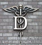 Símbolo dental de la clínica Imagen de archivo libre de regalías