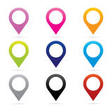 Símbolo determinado de la bandera de la ubicación de GPS del marcador del icono del indicador del mapa ilustración del vector