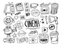 Símbolo dibujado mano del cine fotos de archivo