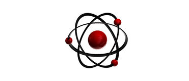 Símbolo do átomo Foto de Stock