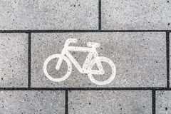 Símbolo do ícone da bicicleta Fotos de Stock