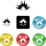 Símbolo do ícone da explosão ilustração do vetor