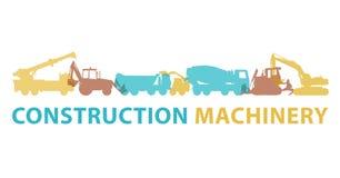 Símbolo do ícone da maquinaria de construção A terra trabalha o sinal Faz à máquina o tipo dos veículos ilustração royalty free