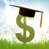 Símbolo do ícone do fundo da bolsa de estudos Foto de Stock Royalty Free