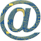 Símbolo do alfabeto da placa de circuito eletrônico Fotografia de Stock Royalty Free
