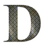 Símbolo do alfabeto do metal - D Imagens de Stock