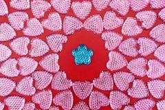 Símbolo do amor Corações do brilho imagens de stock royalty free