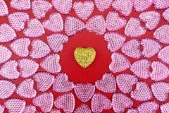 Símbolo do amor Corações do brilho imagem de stock royalty free