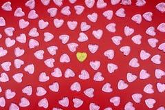 Símbolo do amor Corações do brilho fotografia de stock