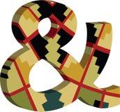 símbolo do Ampersand 3d Imagens de Stock Royalty Free