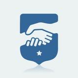 Símbolo do aperto de mão Fotos de Stock