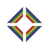 Símbolo do apoio de LGBT em cores do arco-íris com rotulação Ícones, molde do logotipo Elemento à moda do projeto da ilustração l ilustração do vetor