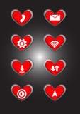Símbolo do app do ícone do telefone Fotos de Stock